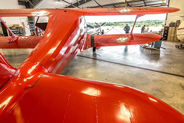 An aircraft restoration project at Port Townsend Aero Museum.