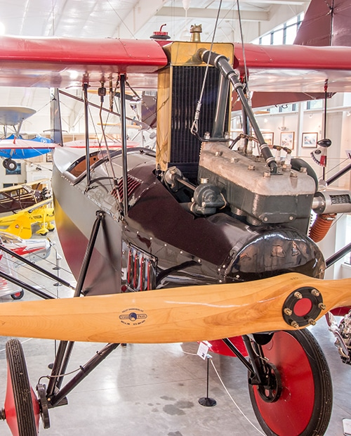 A historic aircraft on display in Port Townsend.