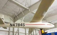 Scheichler Glider suspended in the Aeromuseum